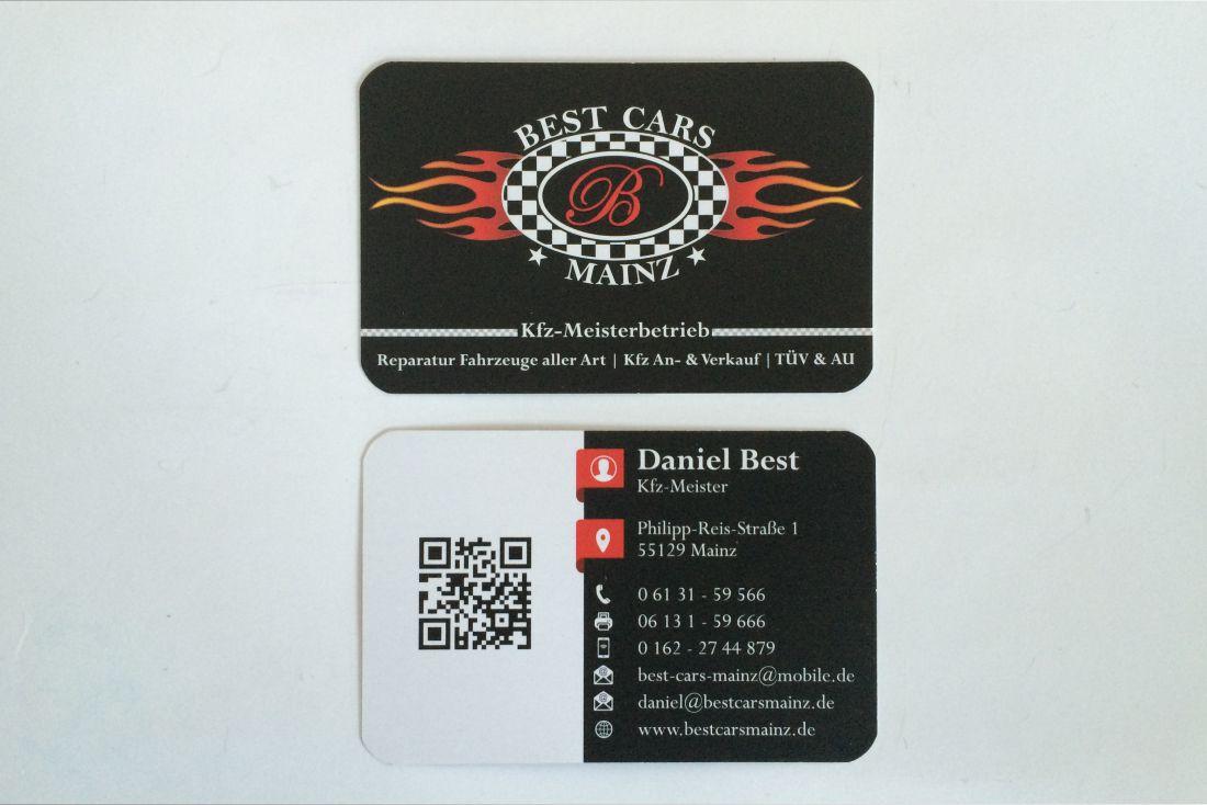 Visitenkarten Best Cars Mainz