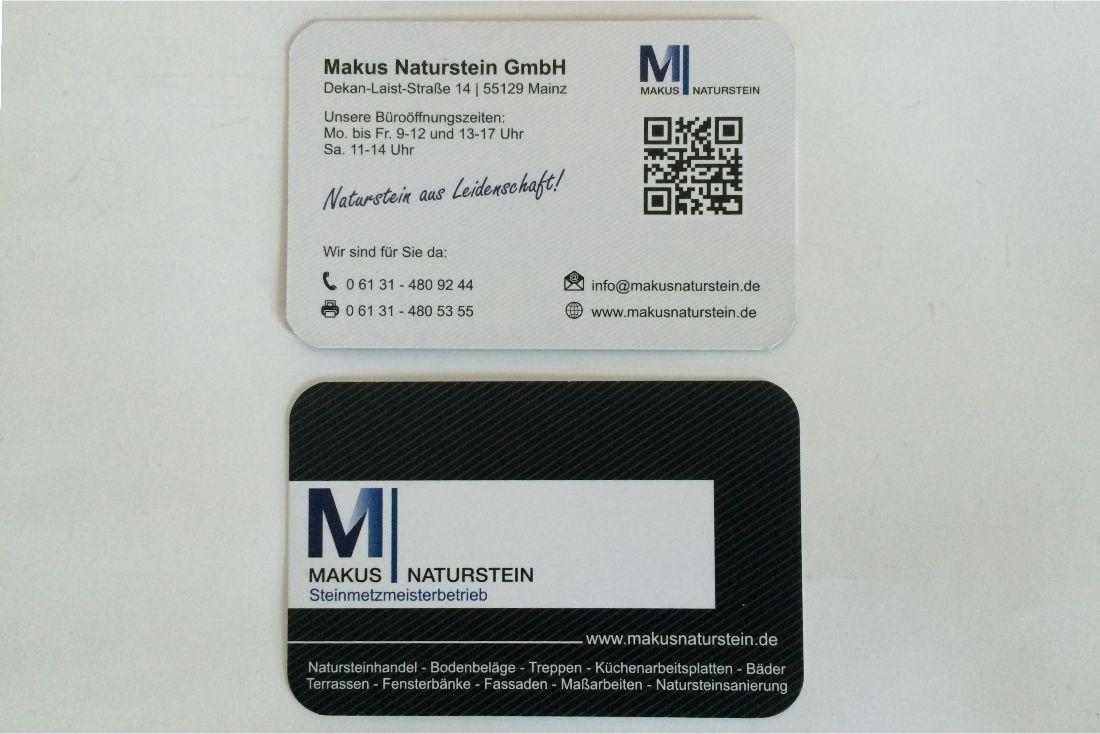 Visitenkarte Makus Naturstein